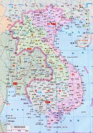 Map Of Cambodia Of Vietnam Laos And Cambodia In Chinese