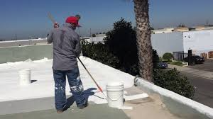 Surecoat Roof Coating by Use Of Roller To Apply Deck Flex Elastomeric Roof Coating Youtube