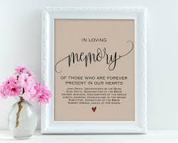 wedding signs template in loving memory wedding signs personalized sign memory sign