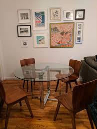 silverado chrome 47 round dining table cb2 silverado chrome 47 round dining table in cobble hill kings