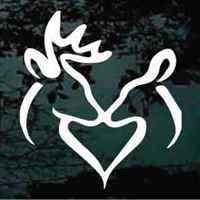 buck and doe heart deer heart decal buck doe deer heart decaljunky