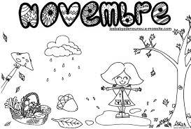 Coloriage Paysage Automne Arbre Novembre dessin