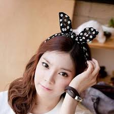 korean headband aliexpress buy 2pcs lovely scrunchy rabbit ear bow headband