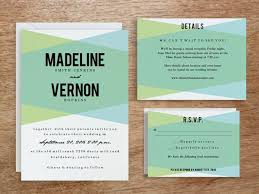 wedding invitation set printable wedding invitation set blue geo e m papers