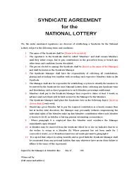 Lottery Syndicate Spreadsheet National Lottery Syndicate Form Lottery Sport