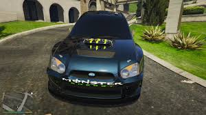 subaru wrc subaru wrc monster energy gta5 mods com