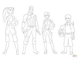 star wars rebels characters coloring page free printable