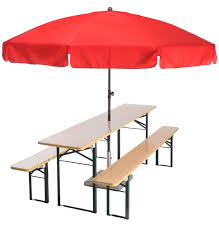 Patio Umbrellas Ebay by Beer Garden Table Bench Umbrella Red Beer Patio Umbrellas