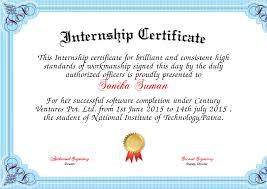 6 internship certificate templates certificate templates