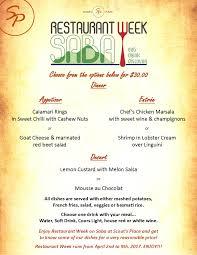 restaurants with light menus restaurant week saba april 2017