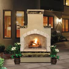 mirage stone see through outdoor fireplace with gas log kit