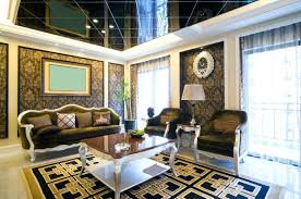 Living Room Ceiling Design Photos Interior Ceiling Design For Living Room Black And Gold Themed