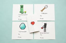 cool valentines cards this s day won t you be minecraft cool tech