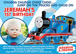 tips create thomas train birthday invitations u2014