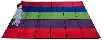 Squares Rug Blocks Seating Rug Multi With 30 Squares Kidcarpet Com