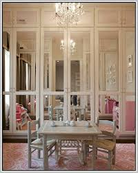 Mirror Doors For Closet Interesting Bi Fold Mirrored Doors Ideas Ideas House Design
