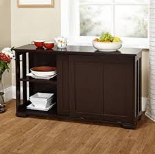 storage furniture kitchen amazon com simple living sliding door stackable espresso cabinet