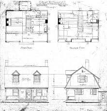 side elevation cottage m for geo w vanderbilt esq first and second floor