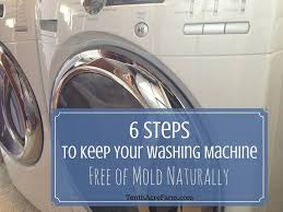 6 steps to keep your washing machine free of mold naturally
