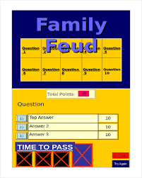 Family Feud Name Tag Template 30 Powerpoint Templates Free Sle Exle Format Free