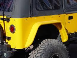 light yellow jeep jeep cj fender flares w corner guards 4 5 inch flare 72 86 cj7