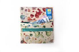 Multi Coloured Upholstery Fabric Women U0027s Wallet Handmande Fabric Wallet Large Wallet Multicolor