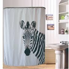 popular zebra shower curtain buy cheap zebra shower curtain lots 3d zebra printed polyester shower curtain bathroom products door cartoon animals curtain decoration 180cm 200cm