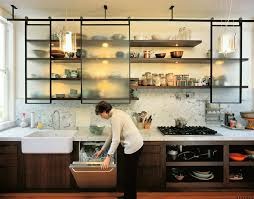 lately tips for stylishly stocking that open kitchen shelving