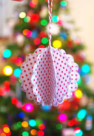 scalloped paper ornament tutorial happiness is