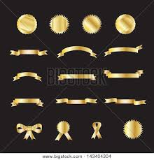 logo ribbon ribbon ribbon banner gold set vector photo bigstock