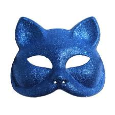 cat masquerade mask buy glitter cat masquerade mask in blue at simply party supplies
