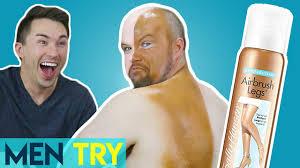 men try fake tan self tanning makeup spray youtube