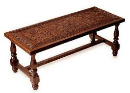 Leather And Wood Coffee Table Peruvian Traditional Leather Wood Coffee Table Andean Elegance