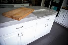 Cutting Board Kitchen Island Island Countertops U2014 Inhabit Concrete Design