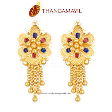 design of gold earrings with design big gold earrings design south india jewels