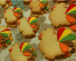 turkey sugar cookies thanksgiving favors thanksgiving table decorations