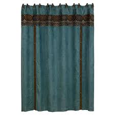 Western Curtain Rod Holders by Del Rio Western Shower Curtain Cabin Place