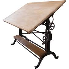 Drafting Tables Toronto Vintage Cast Iron U0026 Wood Drafting Table By The Frederick Post Co