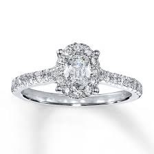 oval shaped engagement rings jared diamond engagement ring 1 ct tw oval 14k white gold