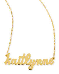 Name Plates Necklaces Personalized Jewelry Bracelets Rings U0026 Charms At Neiman Marcus