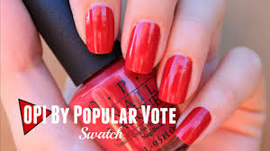 opi by popular vote swatch opi washington dc collection