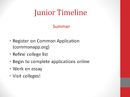 high school applications online college information and planning for junior parents presented by