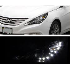 2011 hyundai sonata headlights 2014 hyundai sonata smd led drl projector headlights chrome