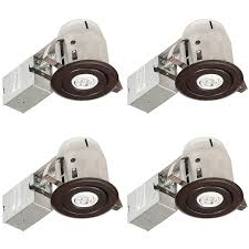 globe electric oil rubbed bronze remodel and new construction recessed light kit fits opening