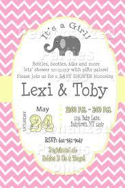 elephant chevron baby shower invitations
