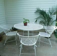 White Metal Patio Furniture - white metal patio furniture home design ideas