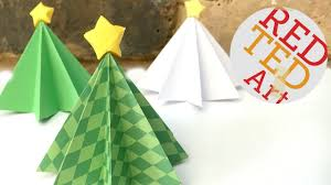 origami christmas tree diy 3d paper diys christmas decor diys