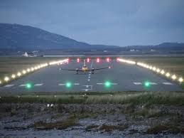 model airport runway lights benbecula lights the way hial