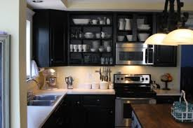 Black Kitchen Wall Cabinets Black Kitchen Cabinets Small Kitchen Video And Photos