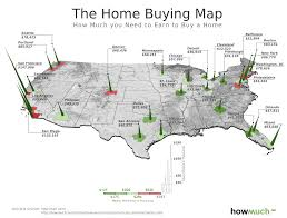 Usa Cities Map by How Much Must One Earn To Buy A Home In 27 Us Cities Map